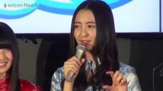 アイドルグループ・HKT48の森保まどか(16)、AKB48の村山彩希(16)が2...