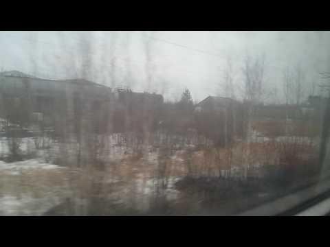 Прибытие на станцию Лангепас. Поезд 94 Омск-Нижневартовск