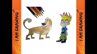 #47 How to draw Johnny Test and Dukey