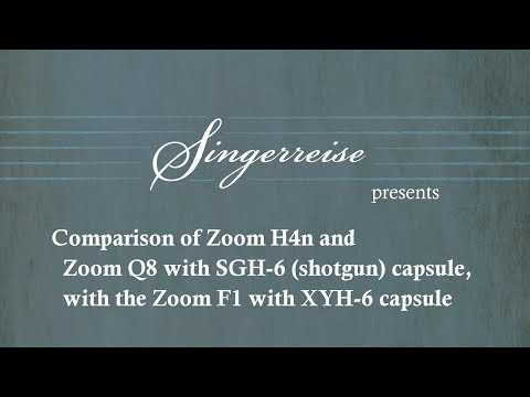 Comparison Audio Test: Zoom F1, Q8, XYH-6, SGH-6, H4n, with classical singer and piano