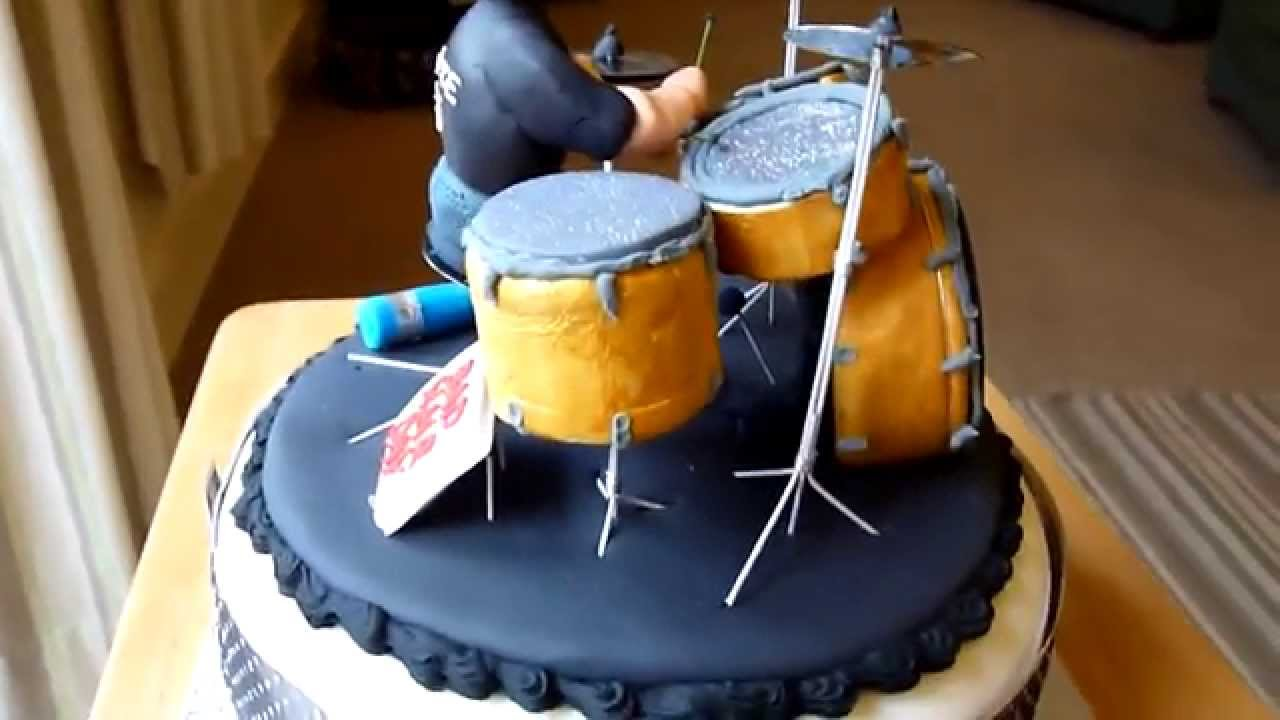 Drummer Birthday Cake