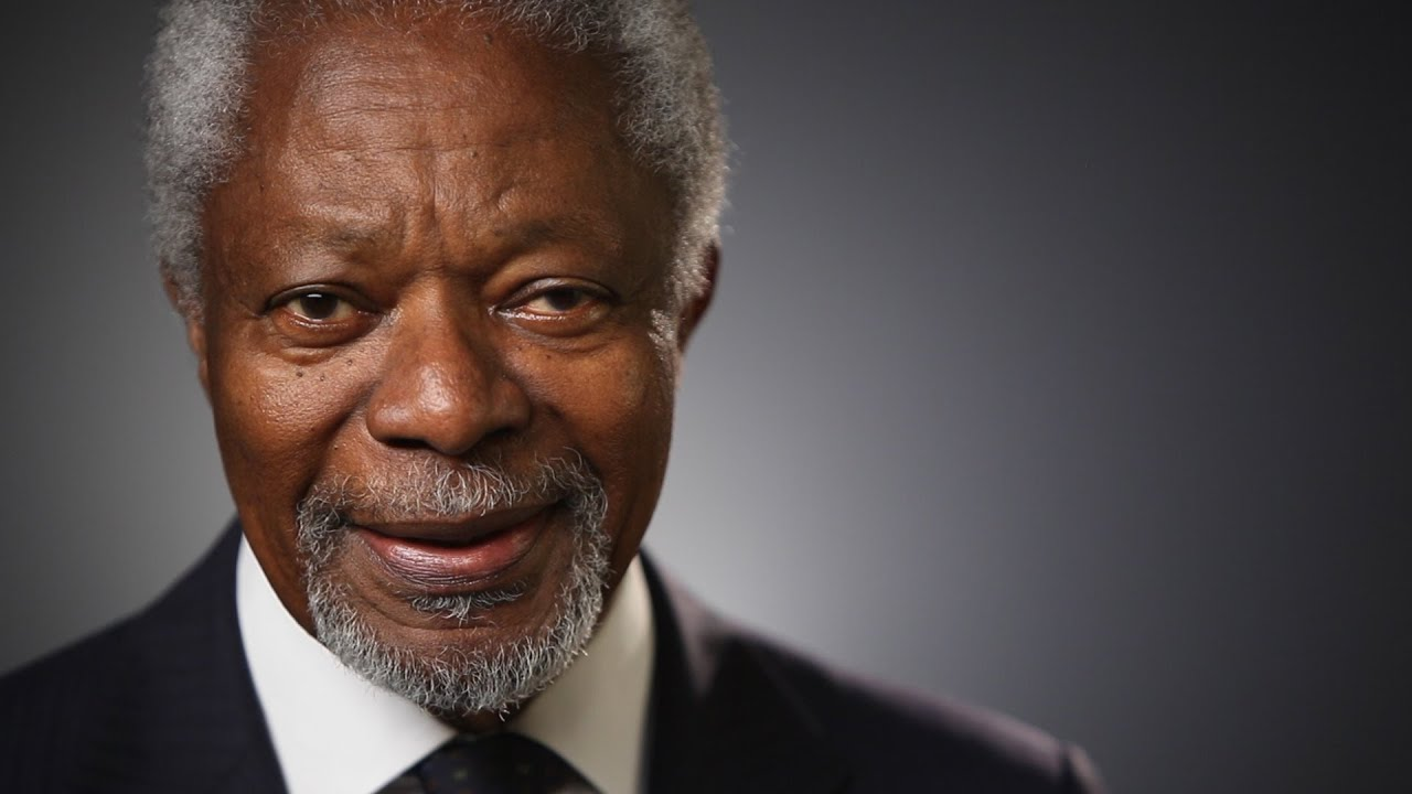 Kofi Annan: The World I'm Working To Create - YouTube
