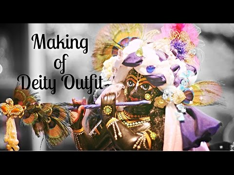 making of deity outfit dress youtube