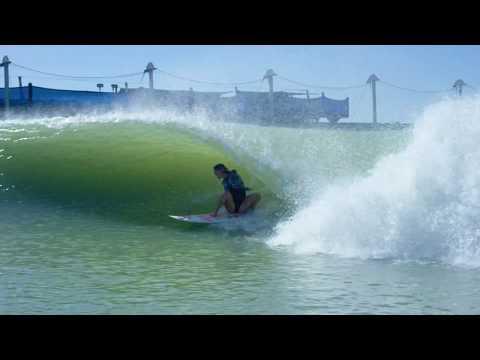 BETHANY HAMILTON SHREDS AT THE SURF RANCH