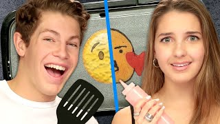 """Boyfriend"" vs ""Girlfriend"" Pancake Art Challenge w/ Lexi Rivera & Ben Azelart 