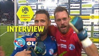 Interview de fin de match :RC Strasbourg Alsace - Olympique Lyonnais ( 3-2 )  / 2017-18