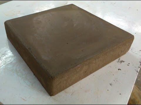 How to make a concrete paver