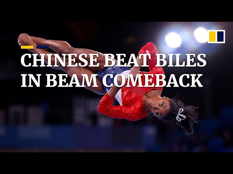 Chinese gymnasts beat American Simone Biles to claim gold and silver Olympic medals on beam