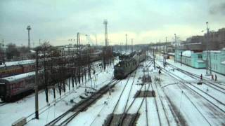 28 ноября 2012 - ВЛ80С с рефрижераторным поездом прибывает на ст. Киров(, 2014-03-18T12:38:31.000Z)