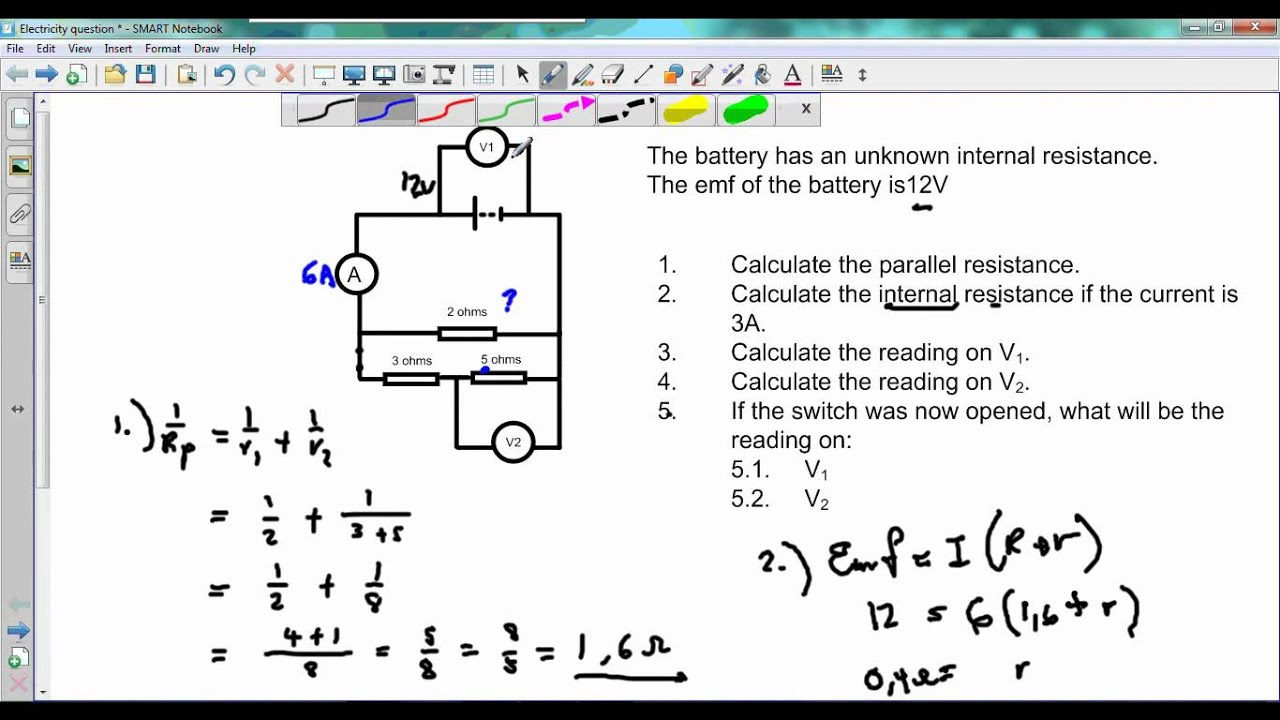electric circuits internal resistance youtube rh youtube com Parallel Circuit Diagram Solving Parallel and Series Circuits