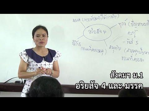 สังคมฯ ม.1อริยสัจ 4 และ มรรค ครูปราณปรียา พรมสิทธิ์