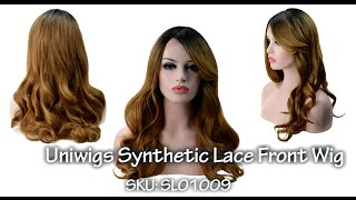 Amazing Ombre Brown Wave Synthetic Wig—Uniwigs