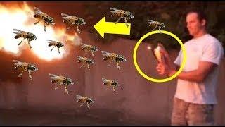 (사이다 영상) 말벌집을 화염방사기로 싹 쓸어버리는 장면