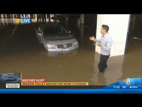 Man has a bad day during El Niño in SoCal