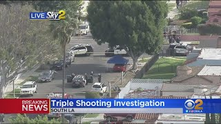 Triple Shooting Investigation In South LA