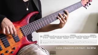 Dream Theater - Fatal Tragedy - Bass Tutorial (Outro) - Felipe Campos