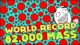 BIGGEST AGAR.IO CELL!! WORLD RECORD: 82 000 AGARIO MASS - GOT HUGE SUPER FAST!! (Agario #67)