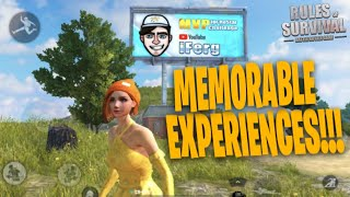Memorable Experiences in Rules Of Survival, My Journey. (Emotional)