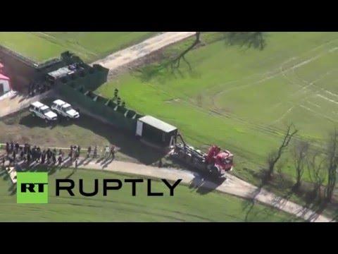 Slovakia: Top officials inspect mobile border erected near Bratislava