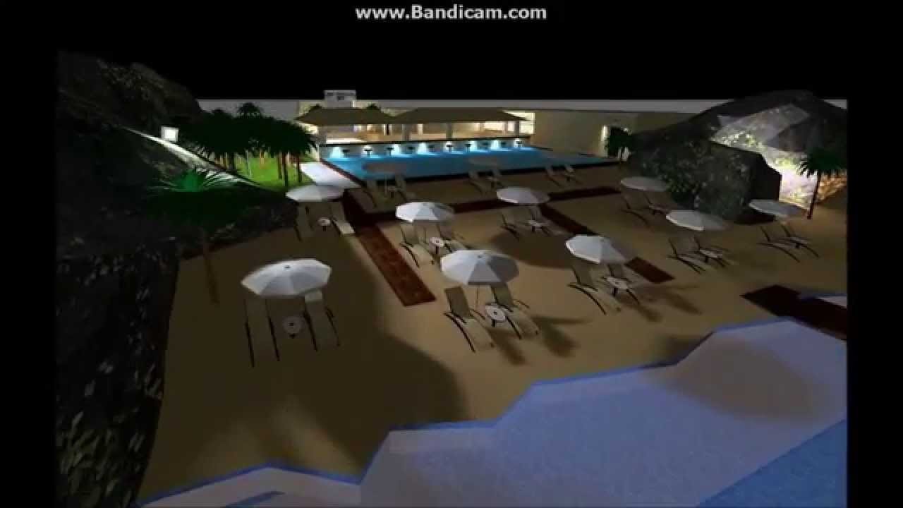 sea side pool bar dialux evo youtube. Black Bedroom Furniture Sets. Home Design Ideas