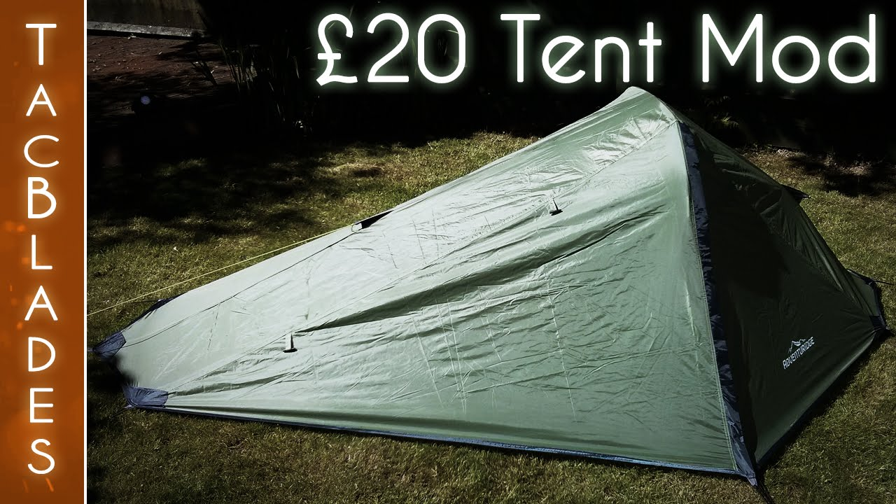 Cheap Tent Mods Part 1  Wild C&ing & Cheap Tent Mods Part 1 : Wild Camping - YouTube