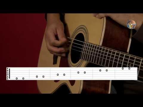 Gitarren - Saitennamen und Tabulatur • Guitar-TV Gitarre lernen ohne Noten (1.4 )