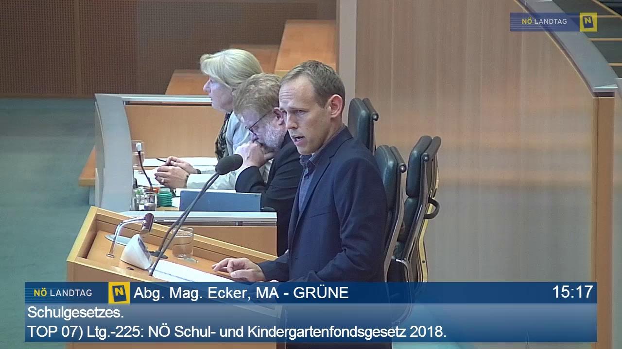 Georg Ecker Zur Kinderbetreuung In Nö Youtube