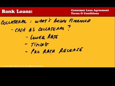 5.5 Bank Loans: Consumer Loan Agreement Terms & Conditions