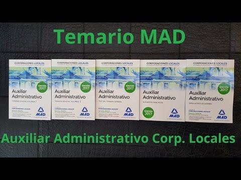temario-mad-auxiliar-administrativo-corporaciones-locales-2017:-paquete-ahorro