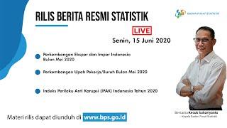 [Rilis BPS] Data Ekspor Impor - 15 Juni 2020