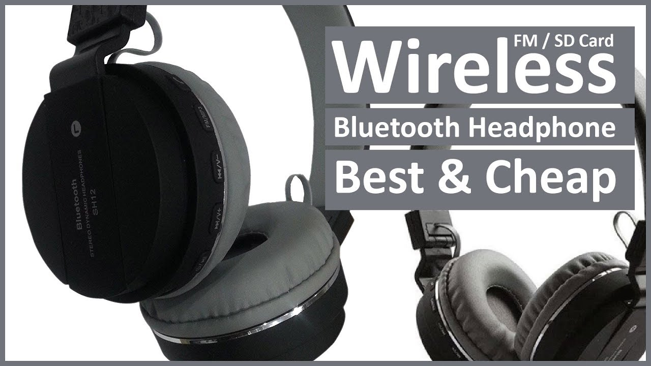 45eff16bdd3 Unboxing SH12 Wireless Bluetooth Headphone With FM and SD Card Slot ...