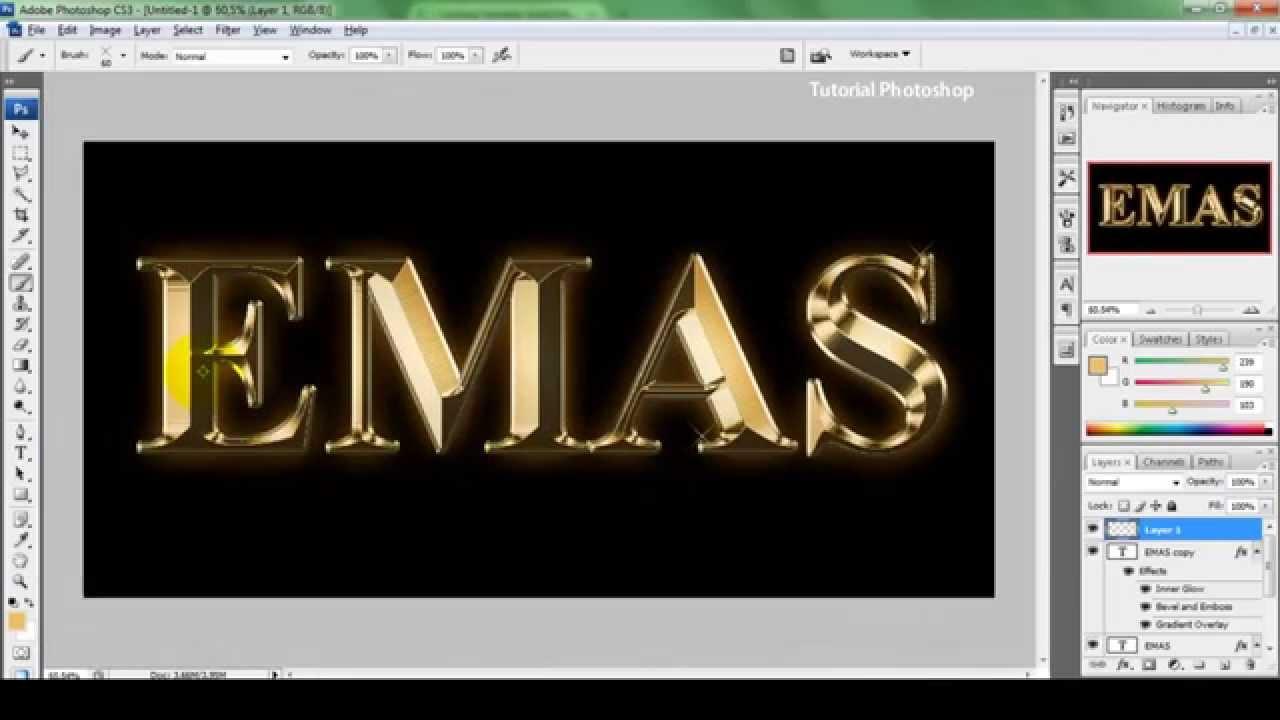 Cara Membuat Gambar 3d Shop Cs3