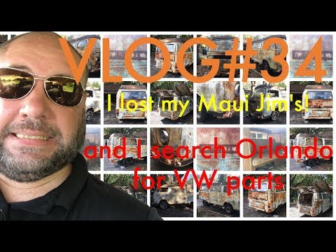I Lost My Maui Jim's FOREVER & I Even Have Evidence, Then Search for VW Stuff for my VWBus VLOG #34