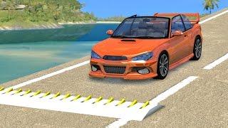Spike Strip High Speed Crashes #15 – BeamNG Drive