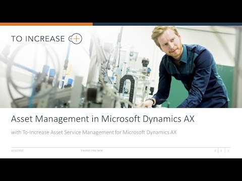 Asset Management in Asset Service Management for Microsoft Dynamics AX