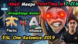 Fnatic Abed - [Meepo] Signature Hero vs Alliance ESL One Katowice 2019 | Dota 2 Game1