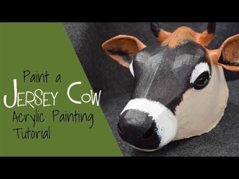 Paint a Paper Mache Cow with Acrylic Paint
