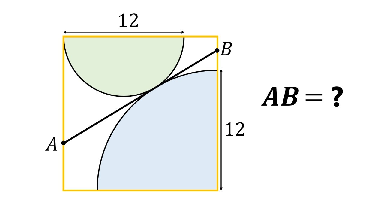 Can you solve this viral geometry problem from Twitter?