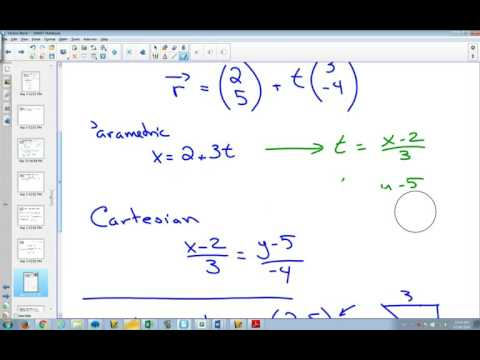 Vectors The Vector Equation of a Line