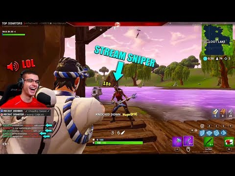 When stream-sniping on Fortnite gets out of control...