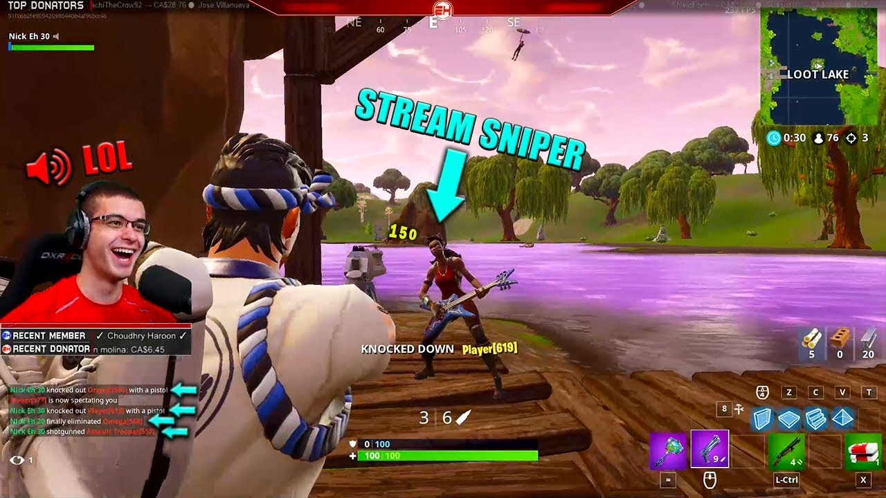 Fortnite Stream+ When Stream Sniping On Fortnite Gets Out Of Control Youtube