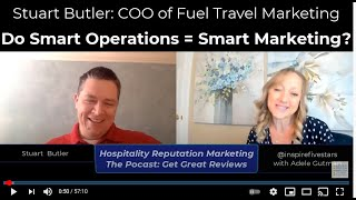 Stuart Butler and Adele Gutman on the Hospitality Reputation Podcast: Get Great Reviews