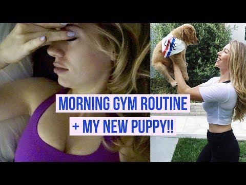 Morning Gym Routine + My New Puppy!!! 🐶 | ANNA VICTORIA