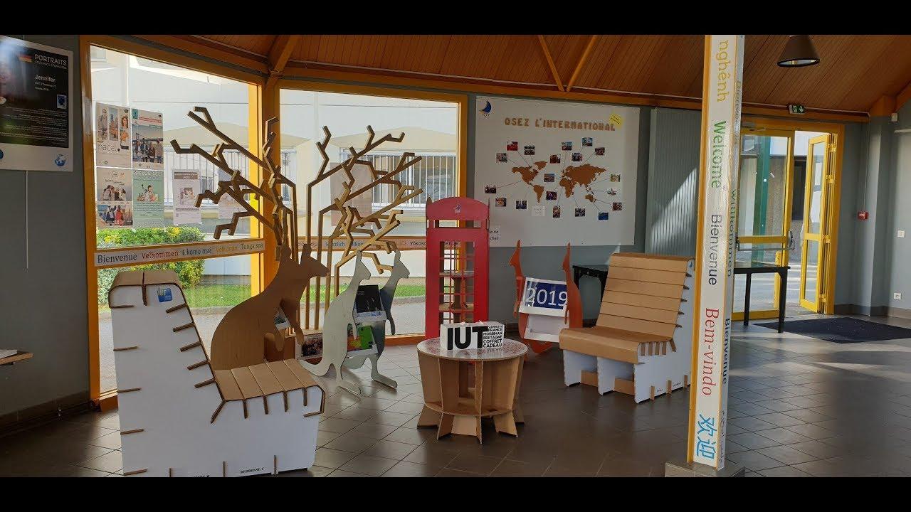 Image De Meuble En Carton iut vannes - création de meubles en carton par les étudiants dut pec iut rcc