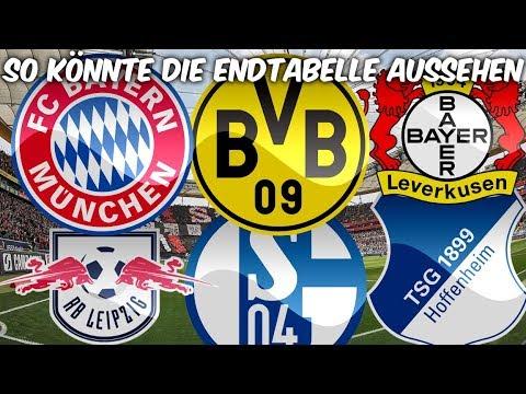 So könnte die Bundesliga Tabelle am Ende der Saison aussehen