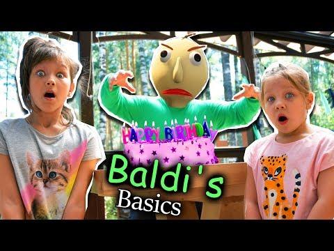 Baldi spoiled Ksyusha's Birthday! Daddy versus Baldi! Baldi's Basics in real life funny video