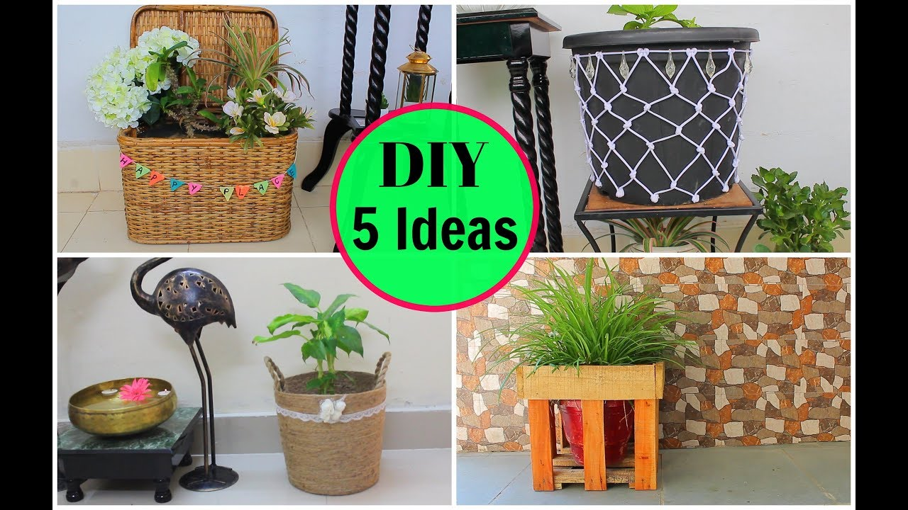 5 Ways To Decorate Indoor Pots At Home Part2 Diy For Home Decor