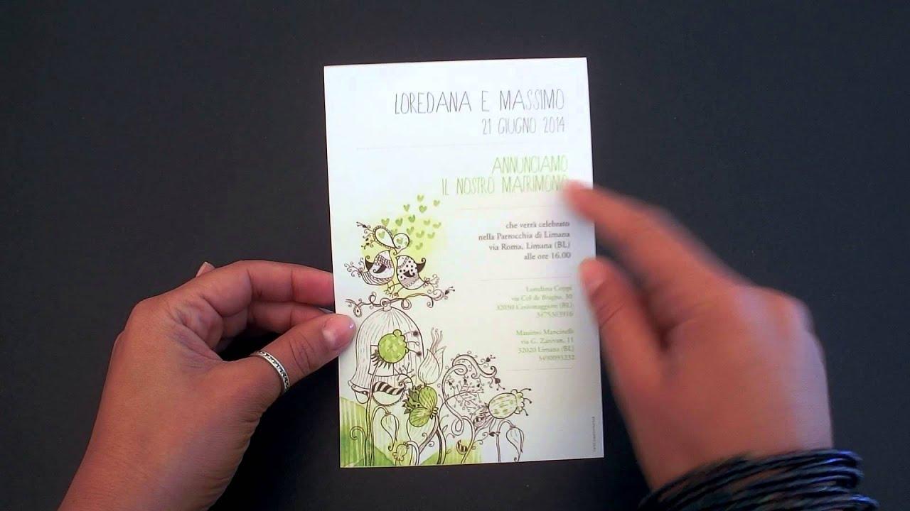 Partecipazioni Matrimonio Inkarta.Partecipazione Nozze Campanella Youtube