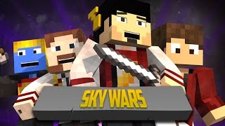 JOGANDO NO MINECRAFT GAMES - SKY WARS ‹ Minecraft ›