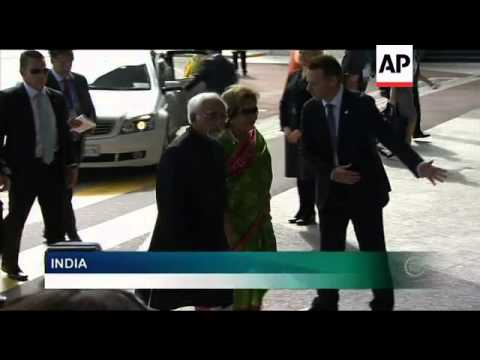Arrivals for Commonwealth Heads of Government meeting